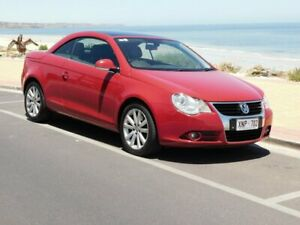 2007 Volkswagen EOS 1F FSI DSG Red 6 Speed Sports Automatic Dual Clutch Convertible Morphett Vale Morphett Vale Area Preview
