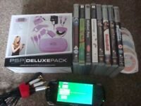 SONY PSP 3003 WITH A SELECTION OF GAMES AND CUSTOM FIRMWARE SALE OR SWAP