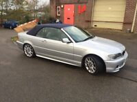 BMW 330 CI M SPORT SILVER CONVERTIBLE CAR