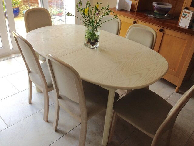 G Plan White Ash Extendable Dining Table and 6 Chairs 163  : 86 from www.gumtree.com size 640 x 480 jpeg 52kB