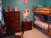 Tall dresser, long dresser with mirror and night stand