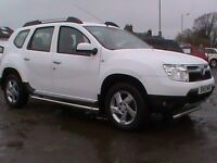 DACIA DUSTER LAUREATE DCI 4X4 WHITE 1 OWNER 1 YRS MOT FSH CLICK ONTO VIDEO LINK FOR DETAILS OF CAR