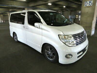 FRESH IMPORT LATE 2004 FACE LIFT 4WD NISSAN ELGRAND HIGHWAY STAR V6 AUTOMATIC