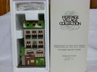 Dept 56 Christmas In the City Toy Shop and Pet Store – 65129