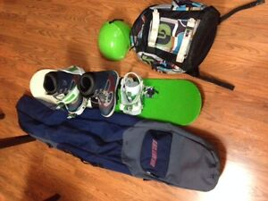 Snowboard and All Gear