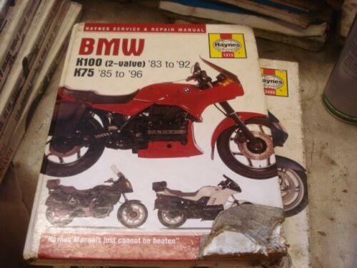 BMW. K100 K75 K100 75 2 Valve 83/85-92/96 Haynes Manual  1373 Hardback cut cover