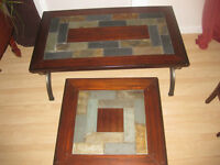 TILE & WOOD COFFEE & END TABLES