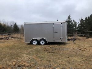 7 x 14 cargo trailer set up for two touring bikes