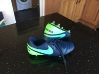 Nike Tiempo UK Size 8 football boots worn twice for school football