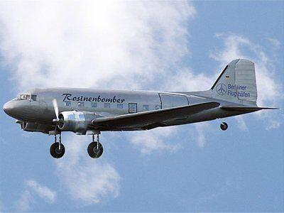 RC Flugzeug Douglas DC-3 Silber Spannweite 1800mm Rosinenbomber + Antriebsset