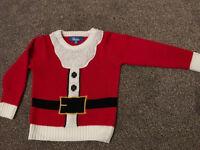 Christmas Santa Jumper Xmas Age 2-3 years