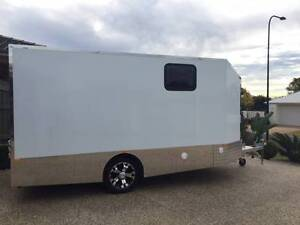 CUSTOM ENCLOSED MOTORCYCLE CAMPER TRAILER Middle Ridge Toowoomba City Preview