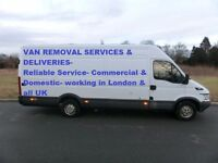 Man And Van Removal £20 per hour loading & unloading in London & UK