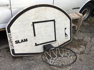 Basketball board with net