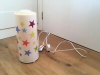 CHILDREN'S STAR TABLE LAMP INCL CABLE - USED
