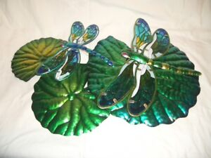 Wall/Fence mount Metal Art with Dragon Flies (New)