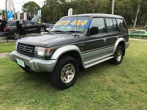 1996 Mitsubishi Pajero NK GLS LWB (4x4) Grey/White 4 Speed Automatic 4x4 Wagon Clontarf Redcliffe Area Preview