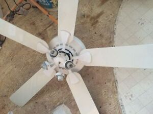 White Ceiling fan with Clear Glass Shades