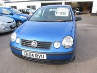 VOLKSWAGEN - POLO E SDI 2004 (04) MANUAL 1.9 DIESEL 5 DOOR...............£1,995.00