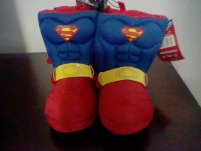 BRAND NEW TODDLER BOYS SIZE 5-6 DC COMICS SUPERMAN SLIPPERS