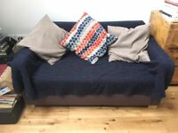 Ikea sofa bed 'ULLVI' dark grey / blue