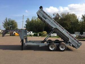 "NEW 2016 CAM SUPERLINE 81.5"" x 16' GOOSE NECK DUMP TRAILER"