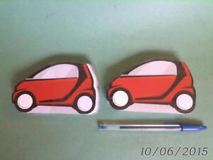 2 SMARTCAR shaped PLAYING CARD DECKS complete