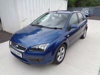 FORD FOCUS 2006 1.6 ZETEC CLIMATE 5 DOOR BLUE MOT TILL *09/07/17 *92,000 MILES EXCELLENT CONDITION