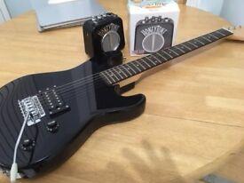 Encore E1BTROFT Black Electric Junior Guitar inc Honeytone Mini Amp