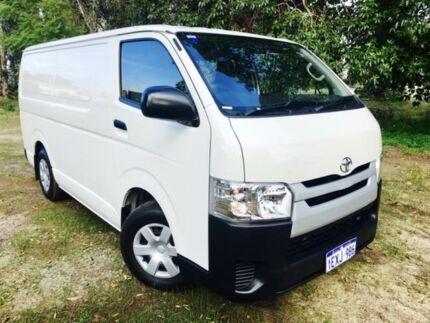 2015 Toyota Hiace TRH201R MY14 LWB White Solid 5 Speed Manual Van