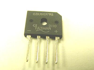 Gbu6gx  Single-phase Full-wave Bridge Rectifier 6 Amp 400volt