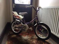 """Raleigh Molly Purple Girls Bike - 16"""" (Suitable for Girls aged 5 - 8)"""
