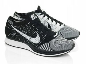 Nike Flyknit Racer Black and White (non-Volt CW)