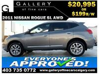 2011 Nissan Rogue SL AWD $199 bi-weekly APPLY NOW DRIVE NOW