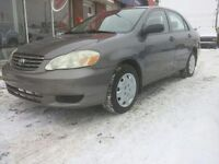 Toyota Corolla 2004 CE Low Mileage with Remote Starter
