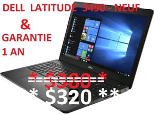 """Laptop Dell 14"""" Latitude 3490 - i3 7eG * NEUF *"""
