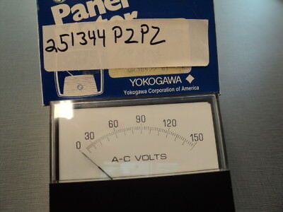 Yokogawa 251344pzpz Ac Voltmeter 0-150 Vac Input And Scale