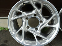polished aluminium rims
