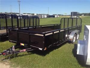 "14' x 83"" Channel Landscape Utility Trailer (U8)"