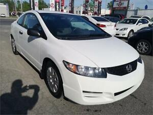 2009 Honda Civic Cpe DX, MANUAL, A/C, MP3, ONLY 82000 KM, 1.8L