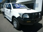 2012 Toyota Hilux KUN26R MY12 Workmate Double Cab White 5 Speed Manual Utility Edwardstown Marion Area Preview