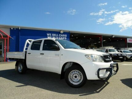 2011 Toyota Hilux KUN16R MY12 SR Double Cab 4x2 White 5 Speed Manual Utility Welshpool Canning Area Preview