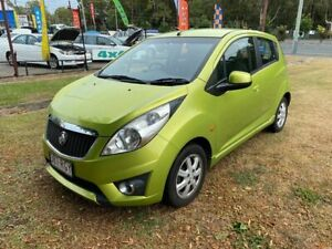2010 Holden Barina Spark MJ MY11 CD Green 5 Speed Manual Hatchback Clontarf Redcliffe Area Preview
