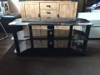 TV STAND GLASS LG 43 INCH OR 108 CM 3 LEVELS