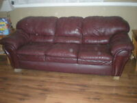 Nice Leather Red Couch
