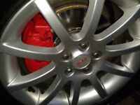 "Toyota Avensis mk2 16"" SR alloy wheels and tyres £225"