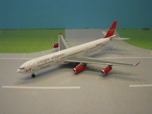 "VIRGIN ATLANTIC ""OPERATION SEAGULL"" A340-311 1:400 SCALE DIECAST METAL MODEL"
