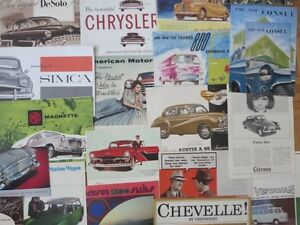 THOUSANDS of Car Brochures 1900s - 2012 BMW Ford Porsche Dodge +