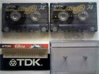 9 RARE TDK CASSETTE TAPES CDing2 74 SD90 SF90 CHROME D46 WALKER 54, SUPER CDing SCD 90, SD 90 CHROME