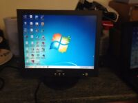 Dell 15 inch flat screen monitor complete with mains lead and VGA cable. Very Good condition
